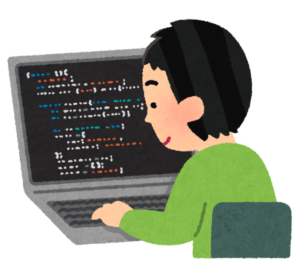 プログラミング系記事を書こうとしてる男性