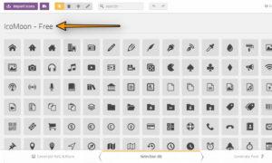 1-3 icomoon-freeからブログに載せたいアイコンを選択する