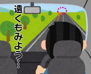 1-4 遠くを見て運転する人改