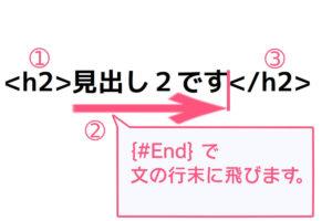 {#End}の解説画像