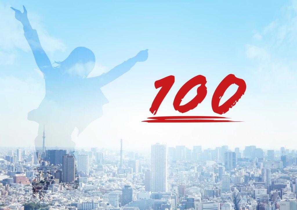 100点を目指してしまうことを想起させる画像