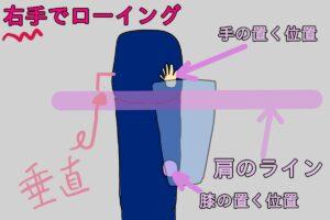肩のラインとベンチが垂直のイメージ